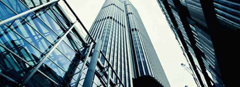 Image of skyscraper looking up