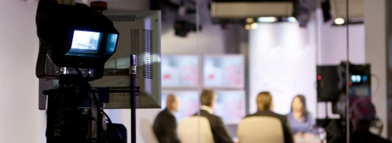 TV Camera in a TV Studio