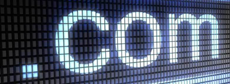 .com written on a screen