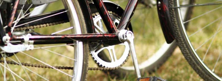 close up of a bicycle