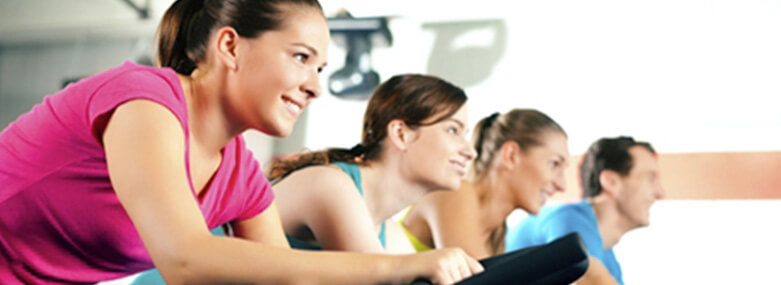 People at a spinning class