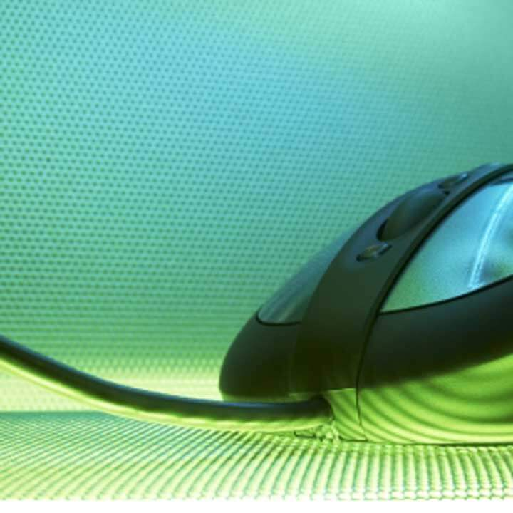 Abstract image of a computer mouse