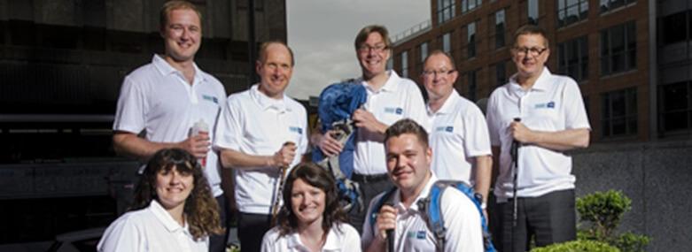 The Walker Morris 100km-Oxfam-Trailtrekker team