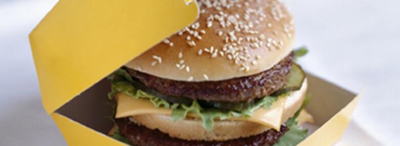 Burger in a carton