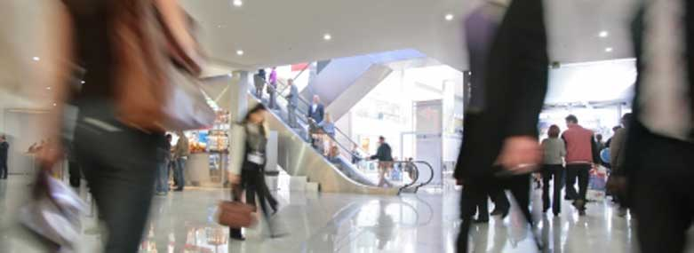 People shopping in a shopping centre