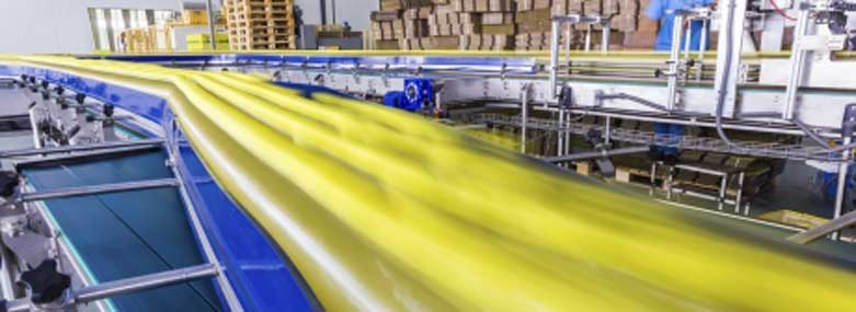packing line in a factory