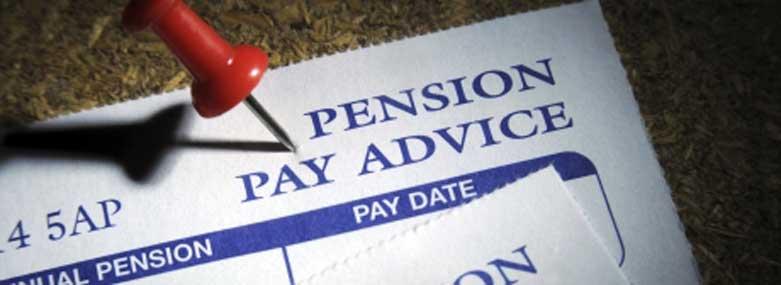 Pension Pay Advice slip