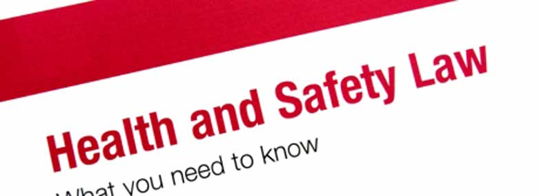 The words Health and Saftey Law in red with what you need to know in black underneath