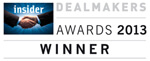 Insider Dealmakers Awards 2013 Winner