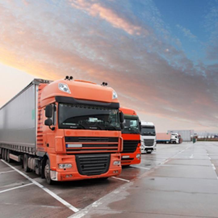 Lorries parked