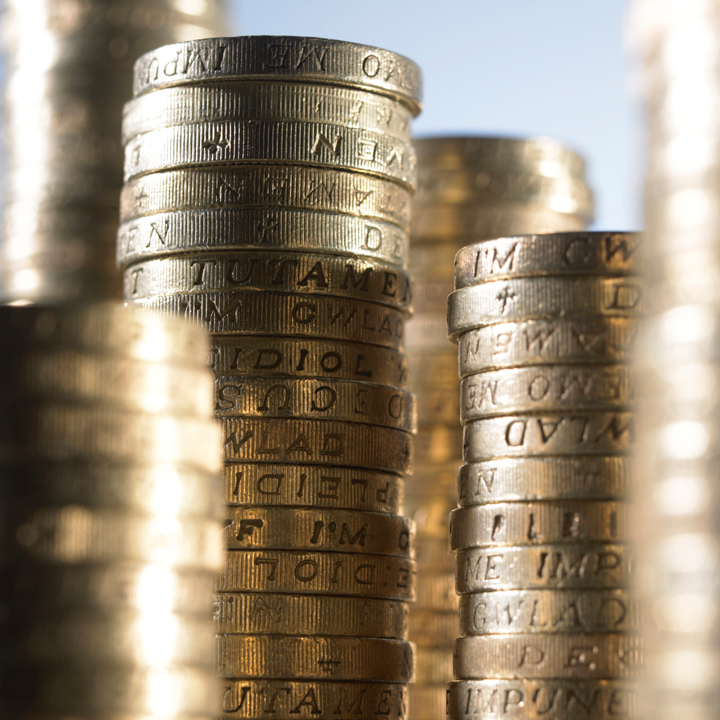 Pound Coin Stacks