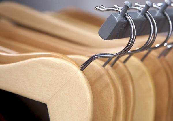 Empty clothing hangers