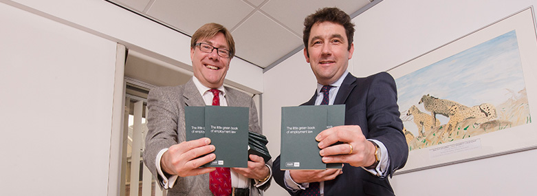 Partners promoting Little Green Book of Employment Law