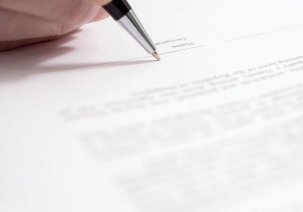 Signing document 4