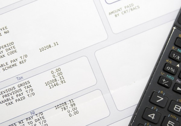 Pay slip and calculator