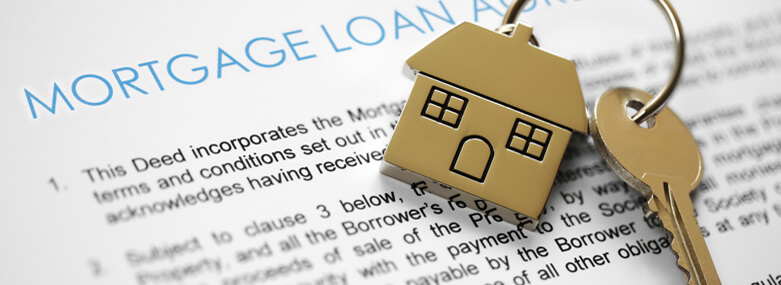 Mortgage application with a key