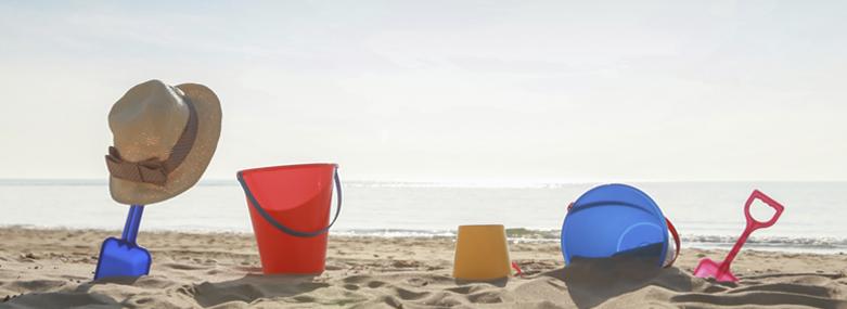Seaside buckets and spades