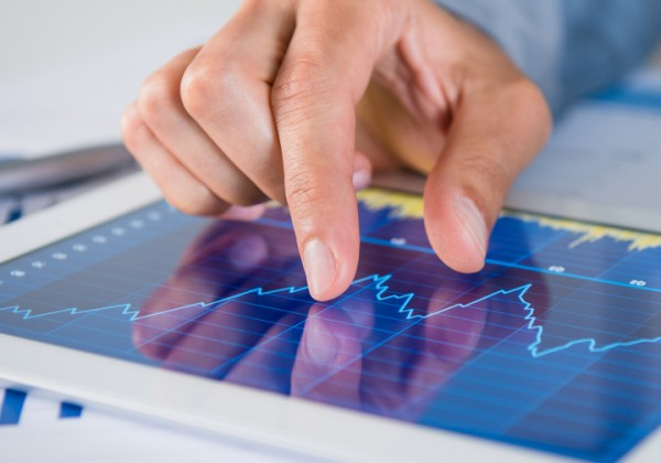 Businessman Analysing Graph