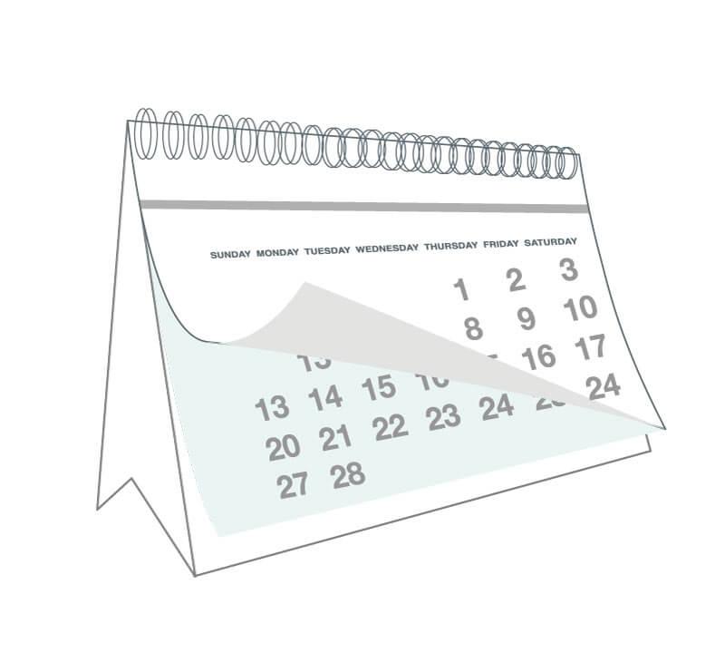 line drawing of a calendar