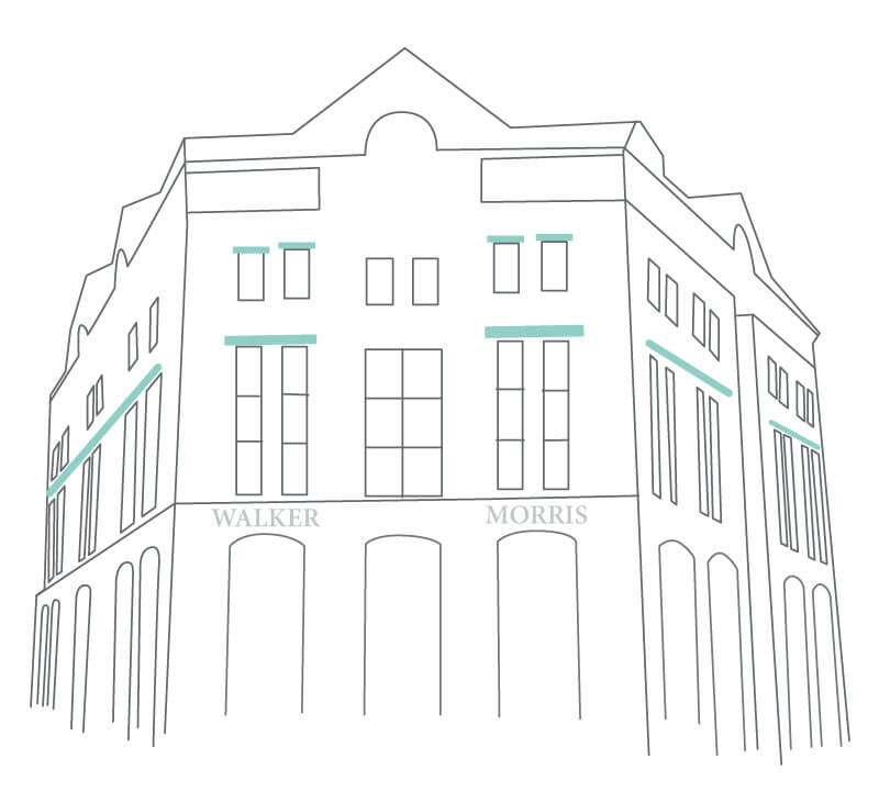 Line drawing of Kings Court