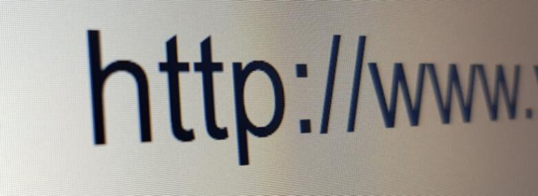 part of a url address on screen