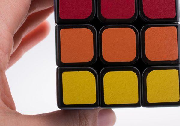Rubik's cube on white background