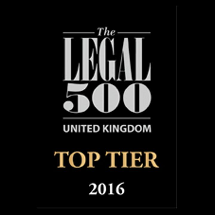 Legal-500 UK top tier firms 2016 logo