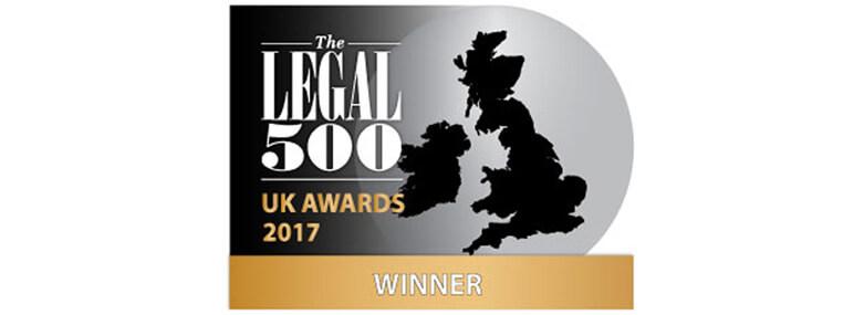 Legal 500 award winners logo 2017