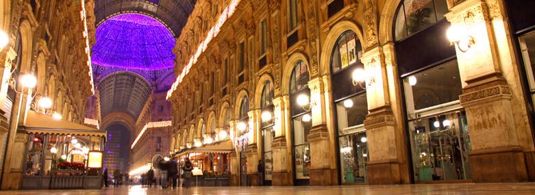 Galleria Vittorio Emanuele II shopping center in Milan, Italy