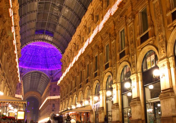 Galleria Vittorio Emanuele II shopping center in Milan, Italy