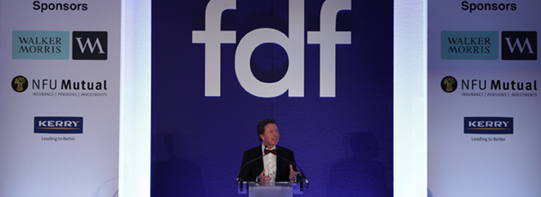 Food and Drink Federation industry dinner main stage 2017