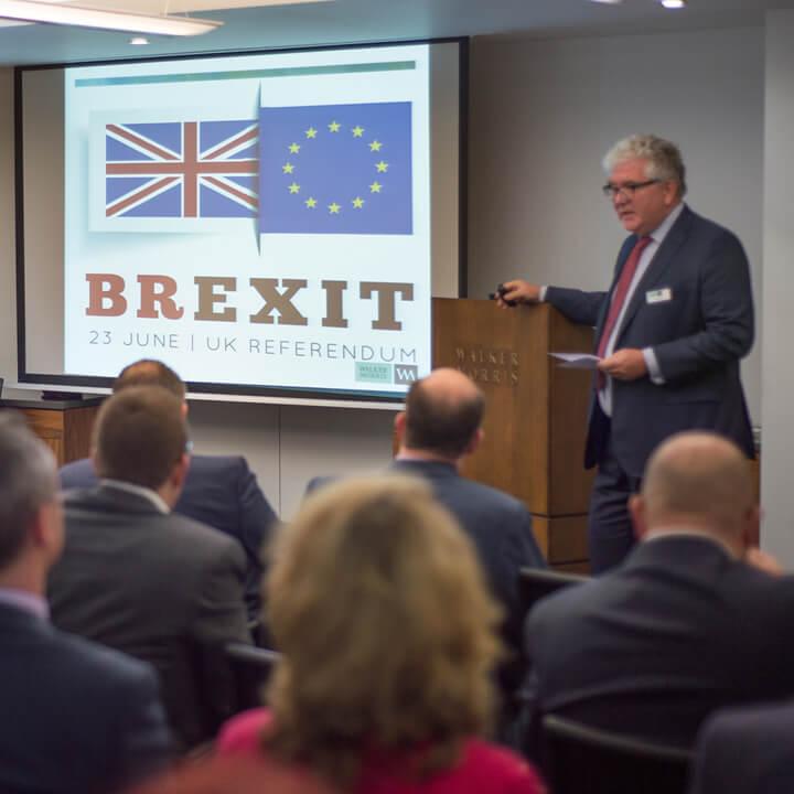 Leaving the EU seminar with David Kilduff speaking