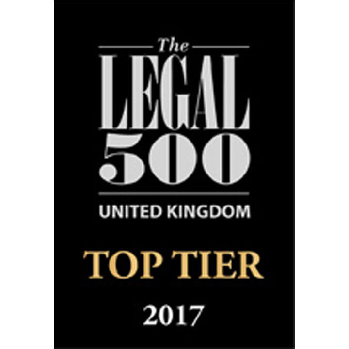 Legal 500 top tier 2017