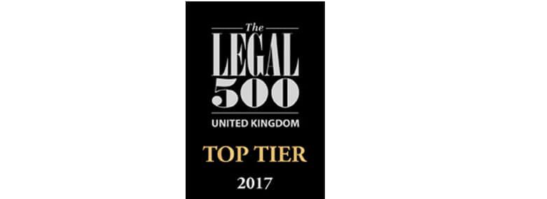 Legal 500 top tier 2017 781x285