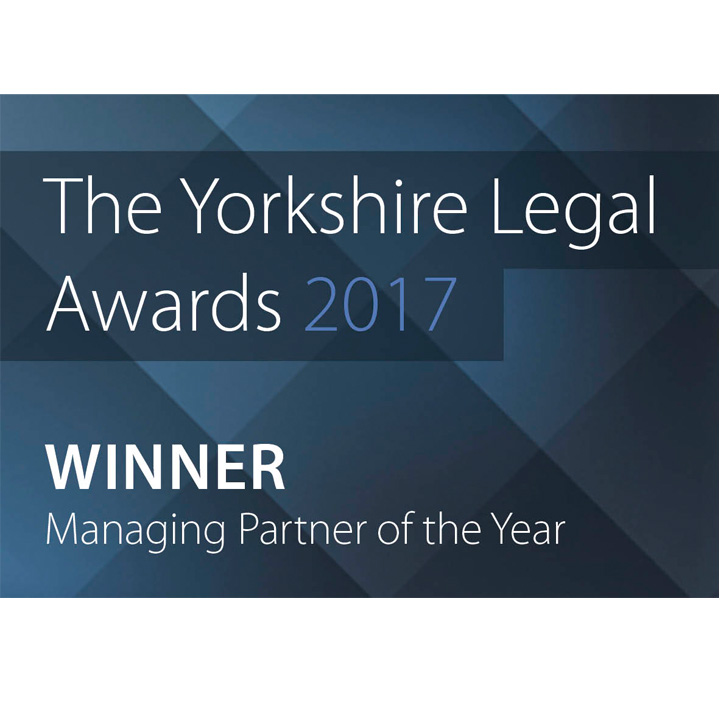 The Yorkshire Legal Awards 2017 Winner Managing Partner of the year logo