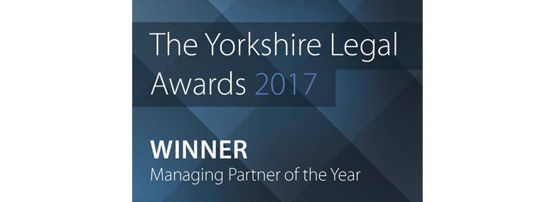 The Yorkshire Legal Awards 2017 Winner Managing Partner of the year logo