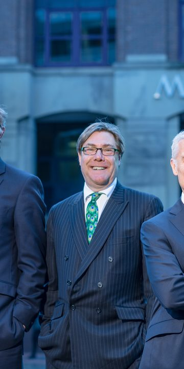 Ian Gilbert Outgoing Managing Partner (Left), David Smedley, Chairman (centre) and Malcolm Simpson, incoming Managing Partner(Right)