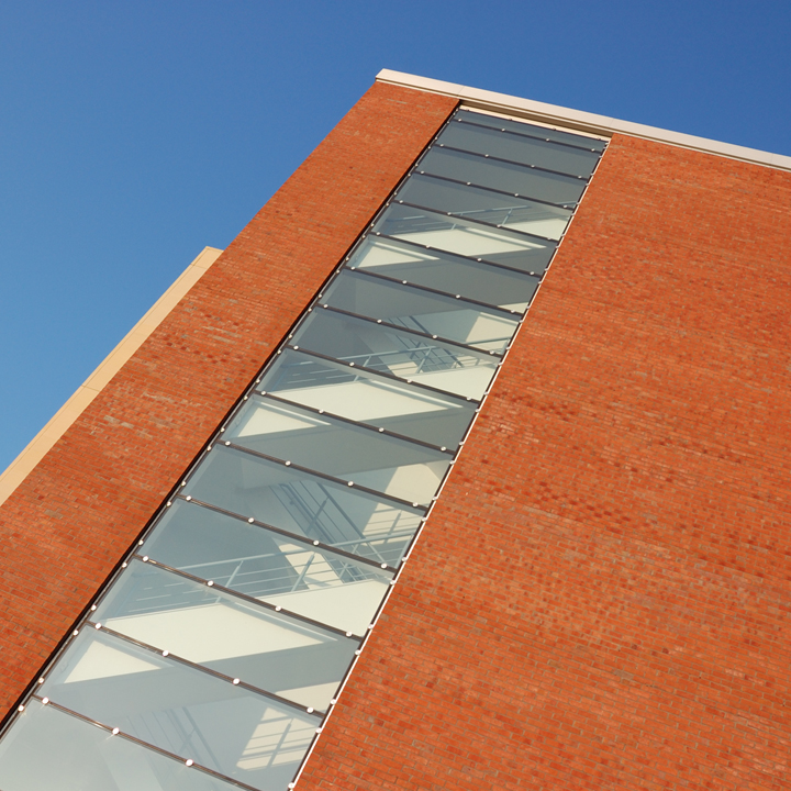 Modern Office Block with glazed stairwell