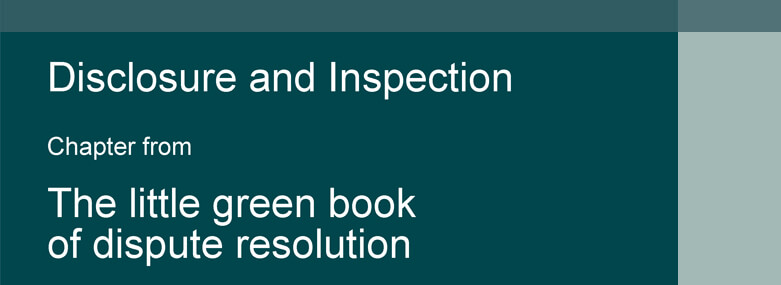 Little Green Book Litigation cover for Disclosure and Inspection