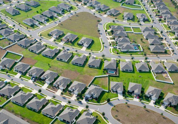 Aerial home housing development community images