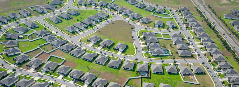 Aerial home housing development community images