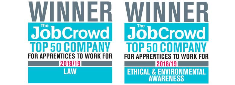 The Job Crowd Winner logos 2018/19