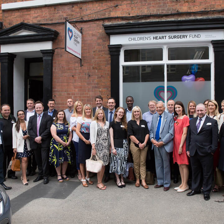 Children's Heart Surgery Fund opening of new offices with Dickie Bird