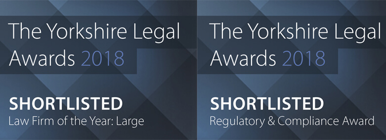 Yorkshire Legal Awards Shortlisting - August 2018