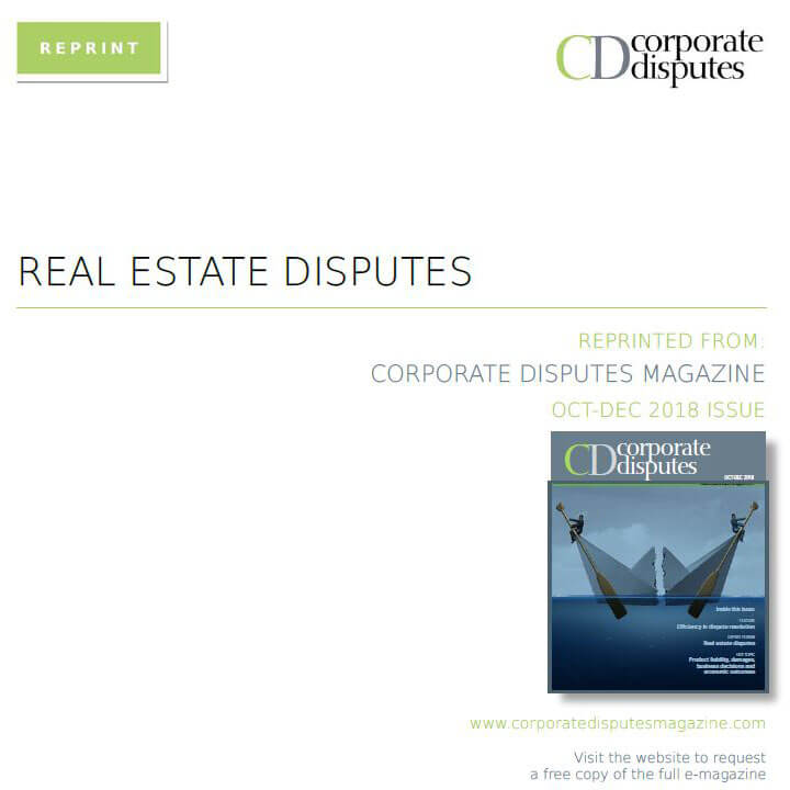 Corporate disputes real estate disputes September 18