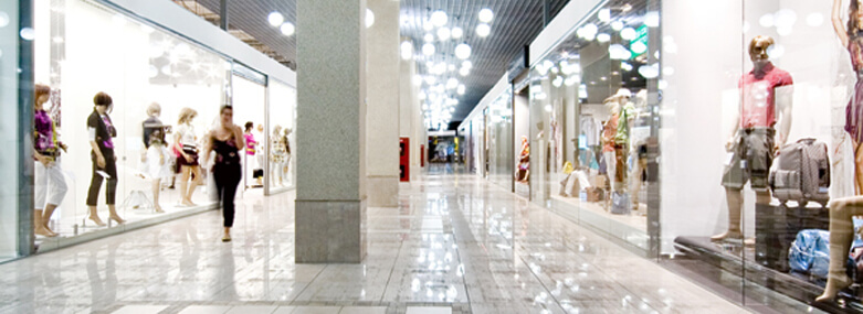 Image of a retail shopping mall