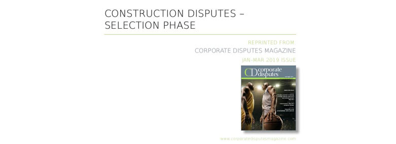 Construction disputes expert forum Jan 19