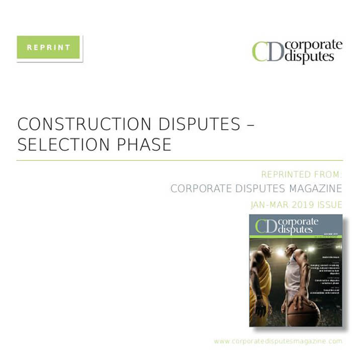 Construction disputes expert forum Jan 19