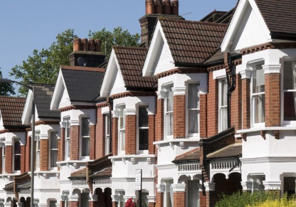 A row of English homes