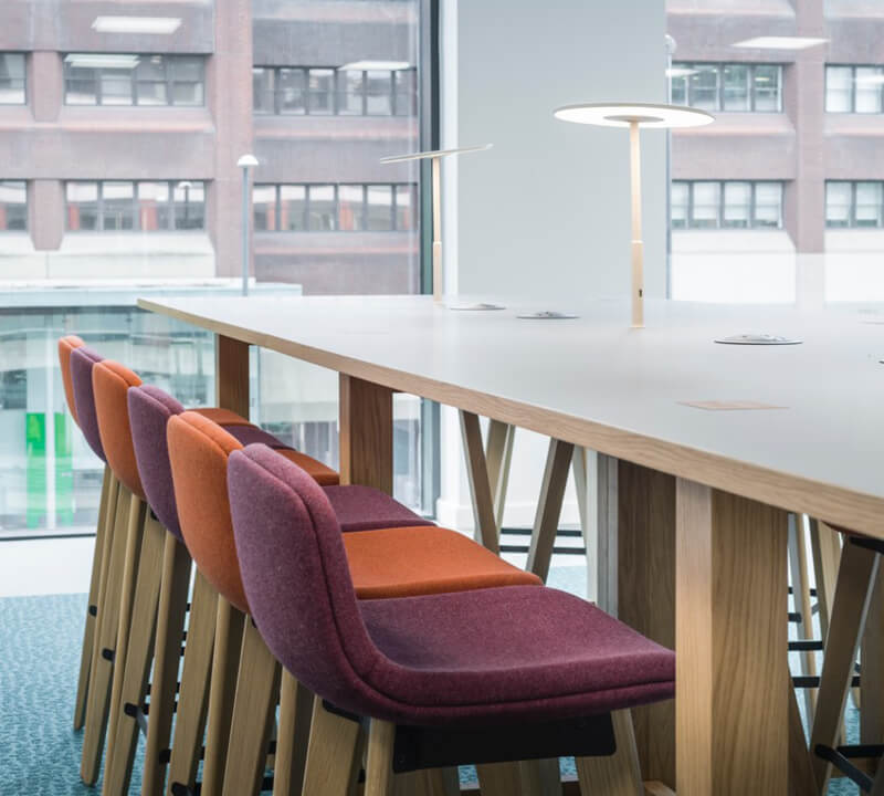 training and meeting tables on the Walker Morris working floors